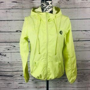 Billabong Windbreaker Zip-Up hooded jacket Yellow